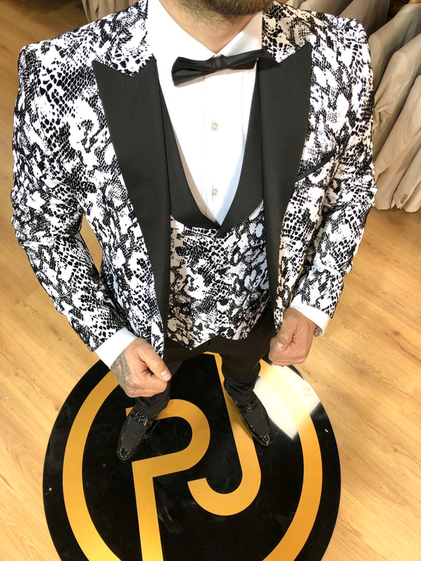 Bond - Black/White 3 Piece Suit