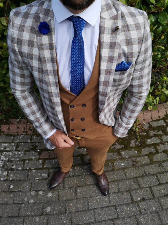 Octave - Brown 3 Piece Suit