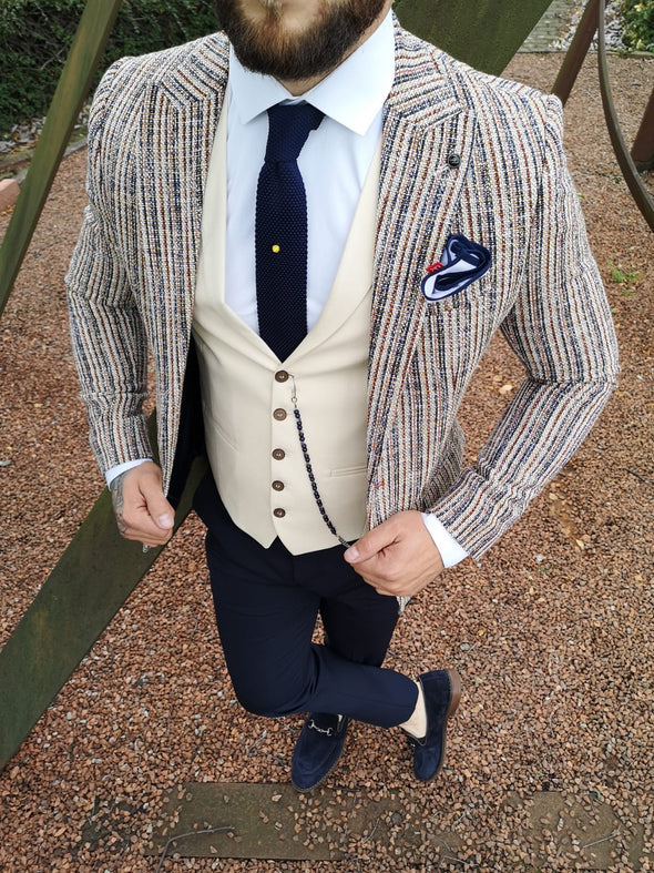 Callaghan - Multi Colour 3 Piece Suit
