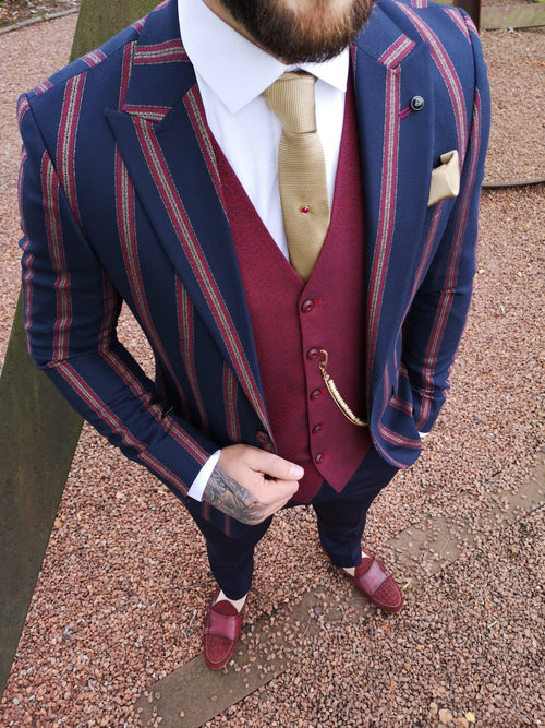 Edom - Navy 3 Piece Suit