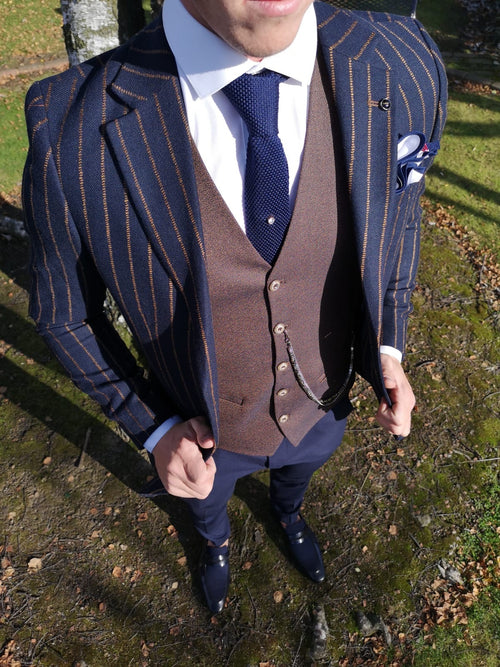 Duran - Navy 3 Piece Suit