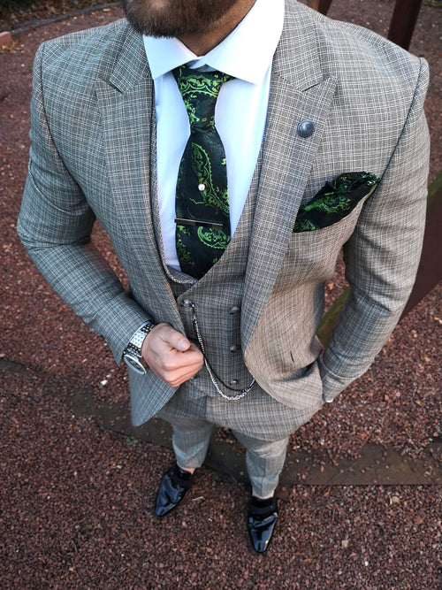 Warrick - Green 3 Piece Suit