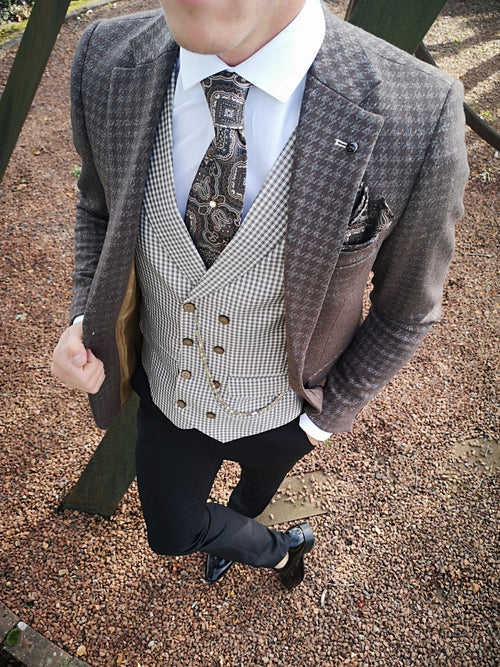 Lenox - Brown 3 Piece Suit