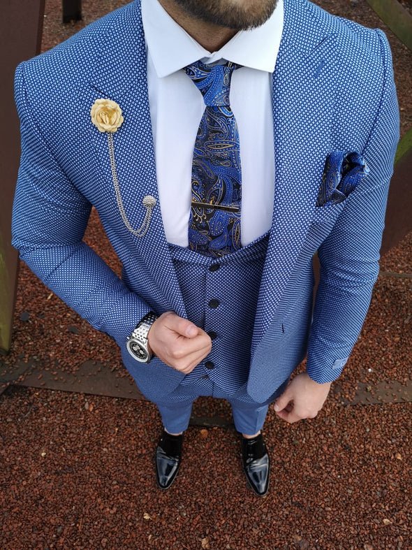 Bailey - Blue 3 Piece Suit