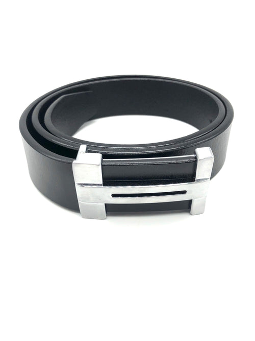 Leather H Belt - Black