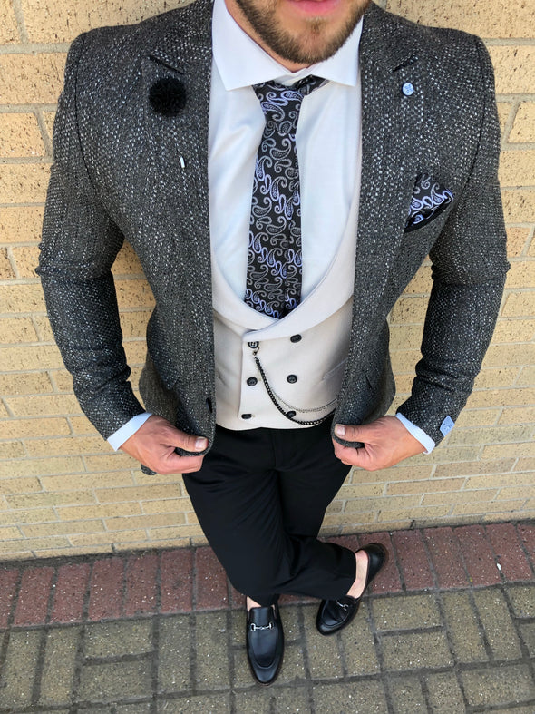 Cambell - Grey 3 Piece Suit