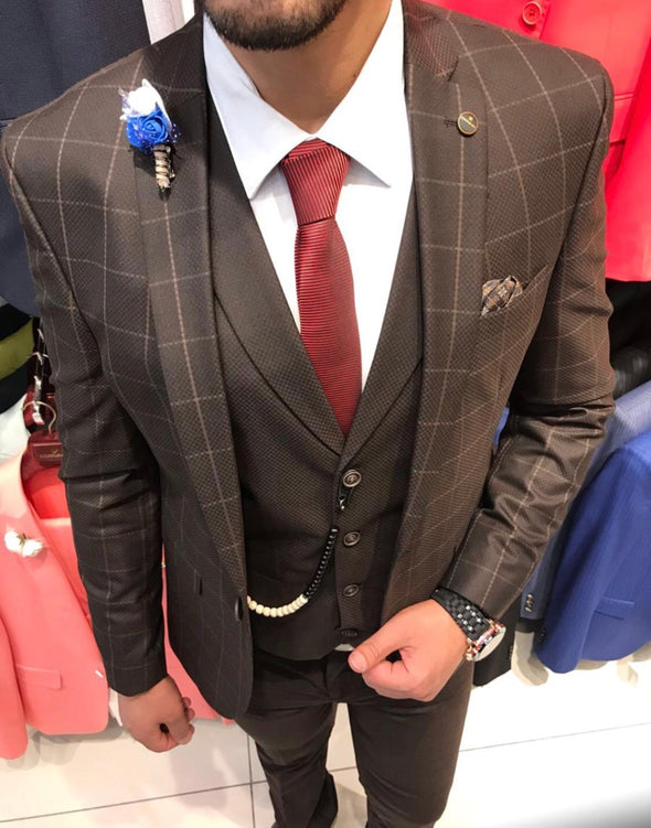 Arthur - Brown 3 Piece Suit