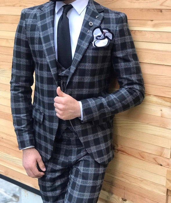 Morty - Black 3 Piece Suit