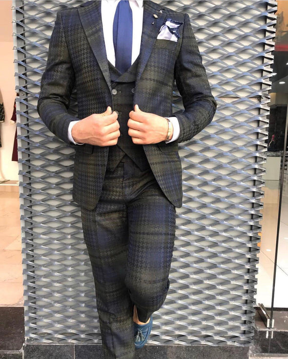 Lloyd - Green/Navy 3 Piece Suit