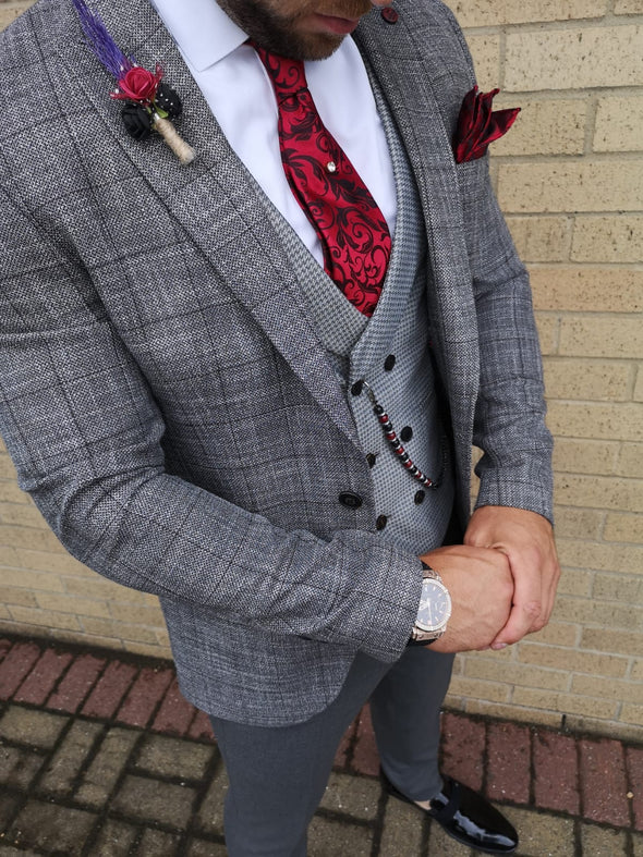 Rocco - Mid Grey 3 Piece Suit