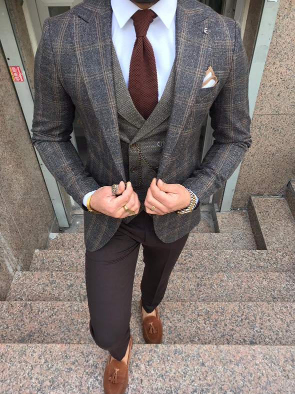 Sonny - Brown 3 Piece Suit