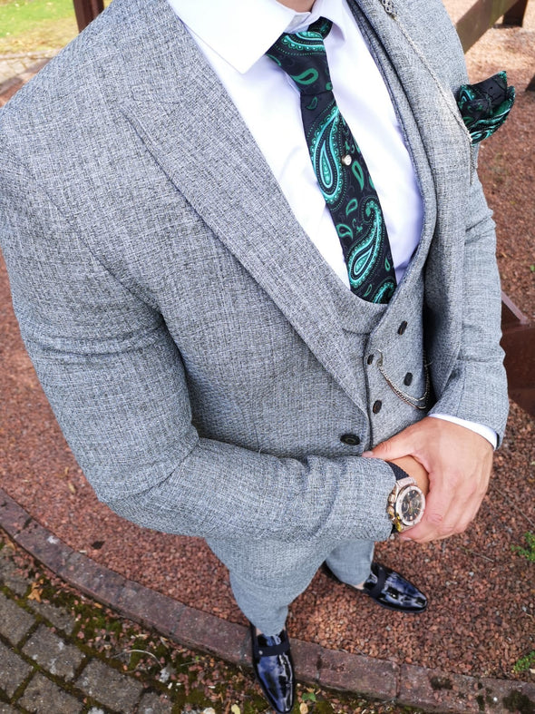 Luiz - Green 3 Piece Suit