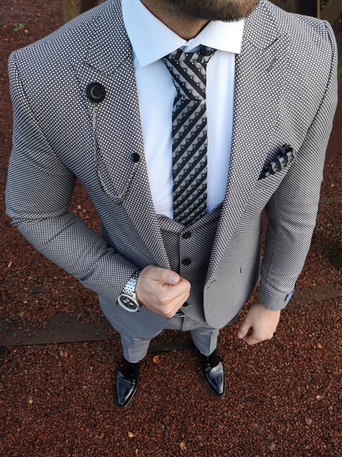 Bailey - Grey 3 Piece Suit