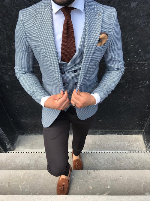 Omega - Blue 3 Piece Suit