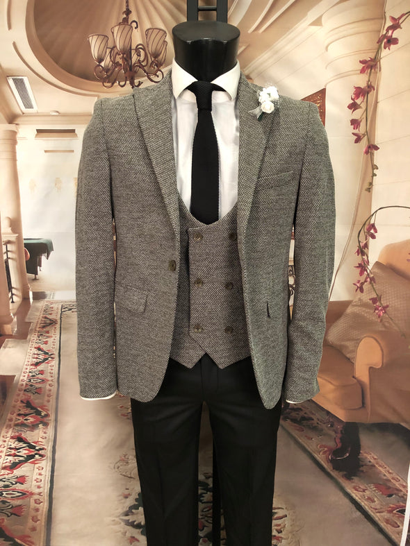 Preston - Khaki 3 Piece Suit