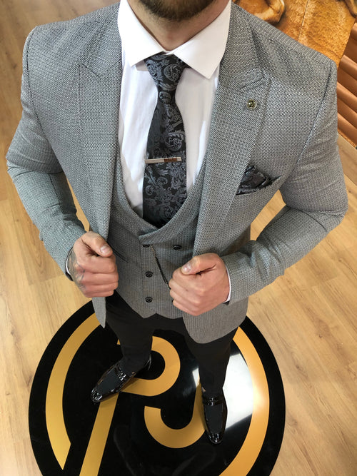 Shelton - Grey 3 Piece Suit