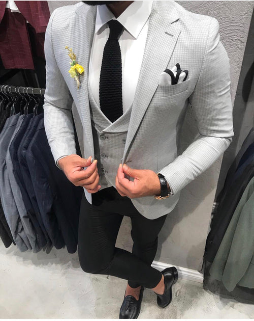 Judas - Light Grey 3 Piece Suit