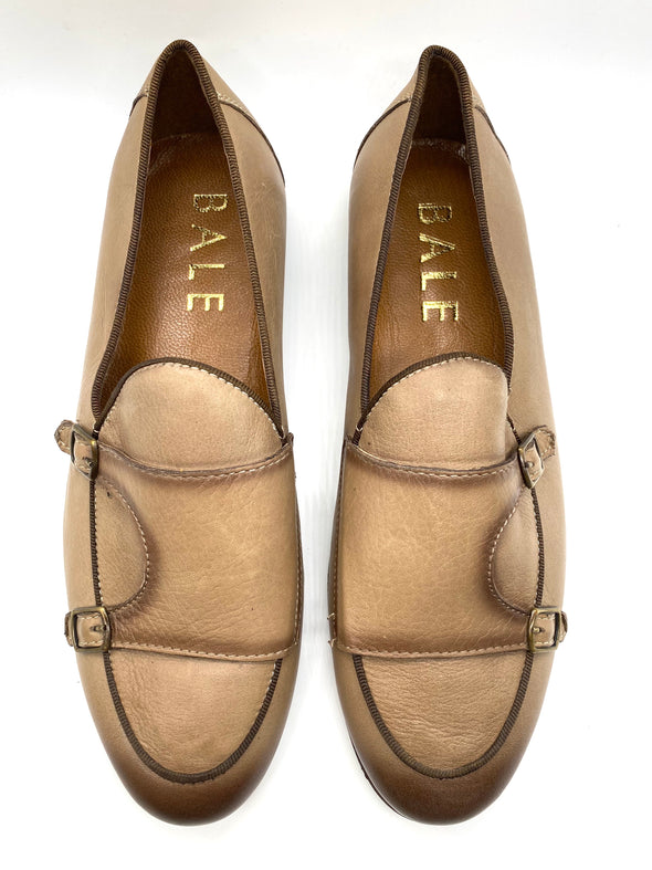 Monk Strap Loafer Shoe - Stone