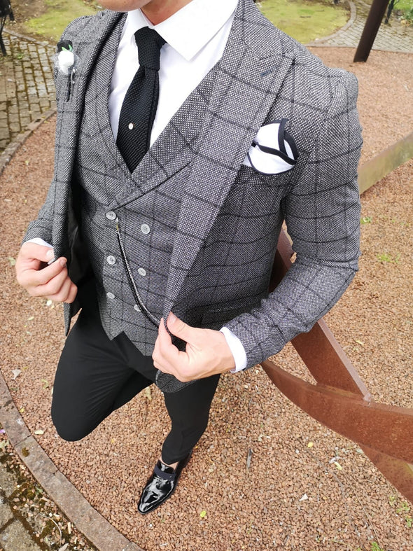Dalton - Dark Grey 3 Piece Suit