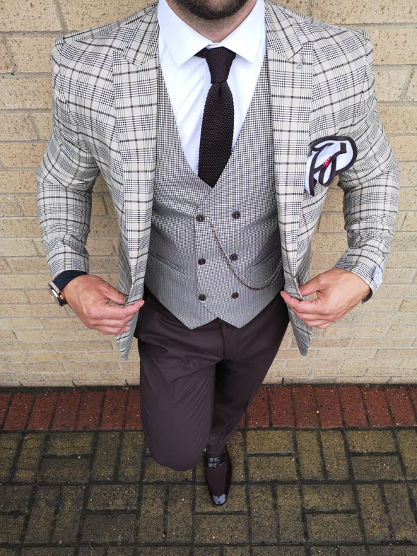 Crowley - Beige 3 Piece Suit