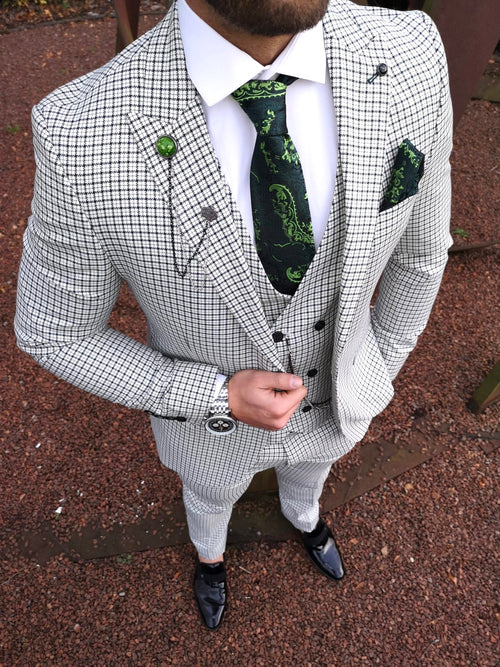 Valentino - Green/White 3 Piece Suit