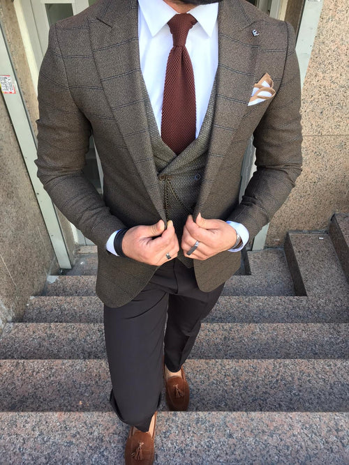 Algarve - Brown 3 Piece Suit