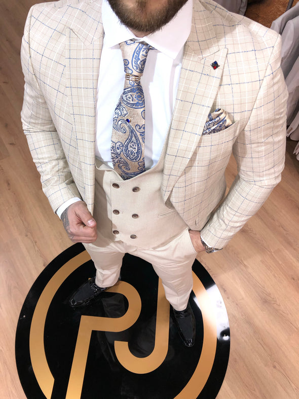 Winfield - Cream 3 Piece Suit