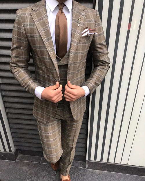 Morty - Brown 3 Piece Suit