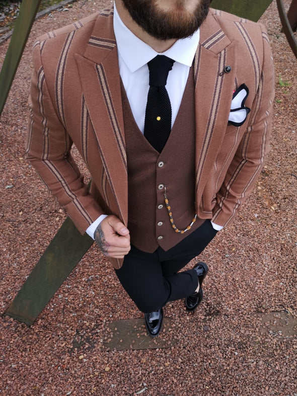 Edom - Rust 3 Piece Suit