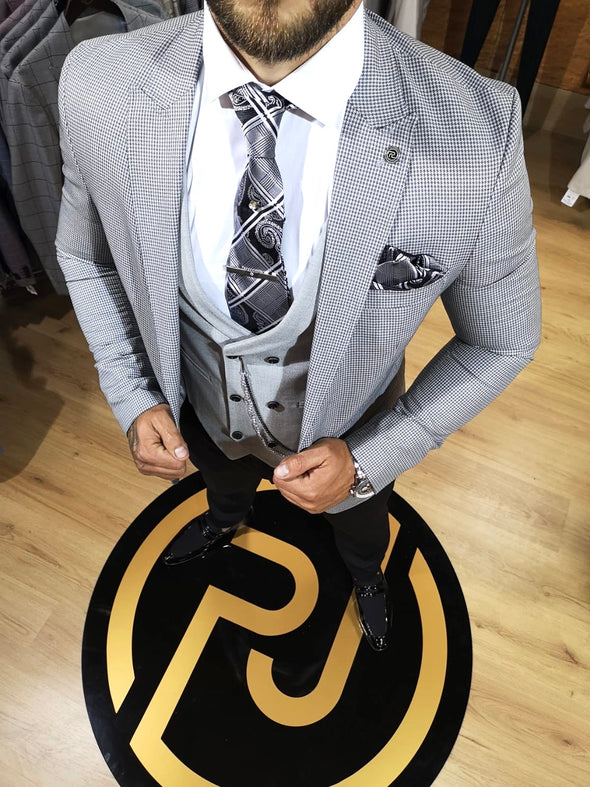Monty - Grey 3 Piece Suit