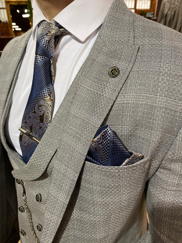 Jaydon - Grey 3 Piece Suit