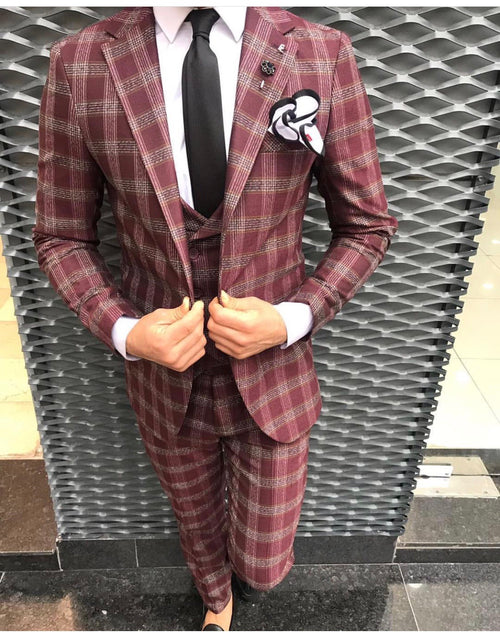Morty - Burgundy 3 Piece Suit