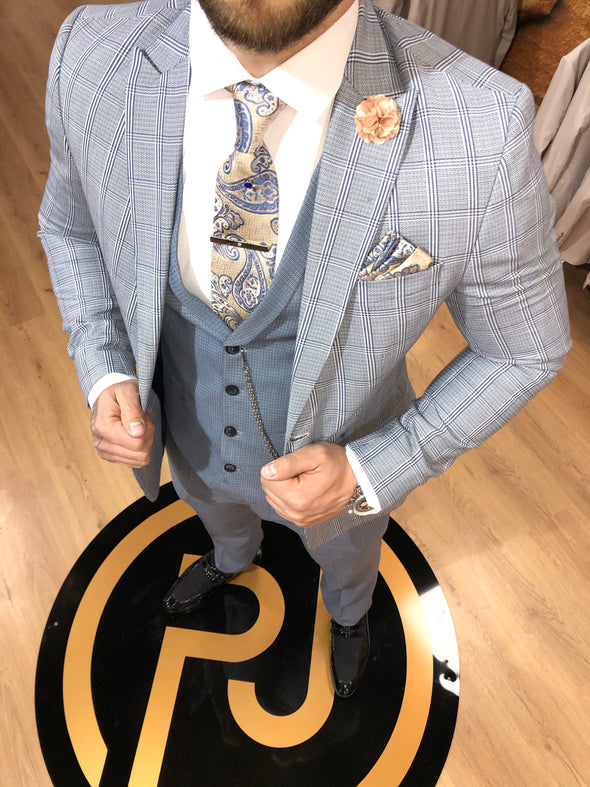 Napoli - Blue 3 Piece Suit