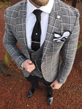 Hampton - Grey/Black 3 Piece Suit