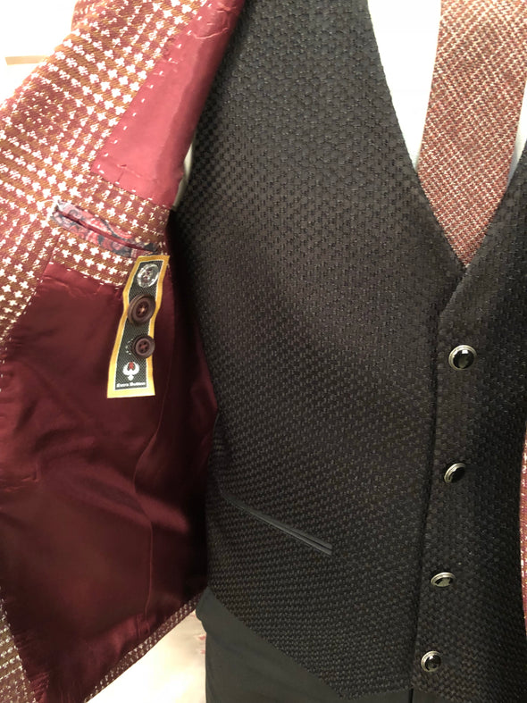 Malone - Burgundy 3 Piece Suit