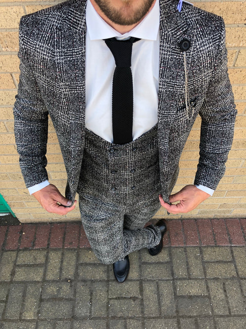 Roderick - Black/Beige 3 Piece Suit