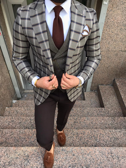 Evron - Brown 3 Piece Suit
