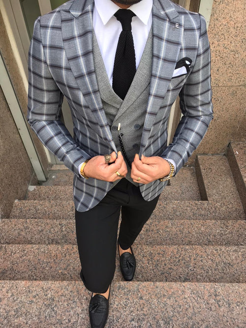 Evron - Grey 3 Piece Suit