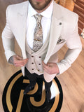 Monty - Cream 3 Piece Suit