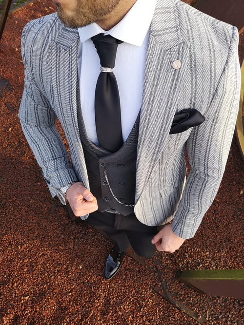 Edgar - Grey 3 Piece Suit