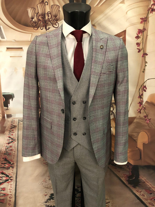 Fraser - Grey 3 Piece Suit