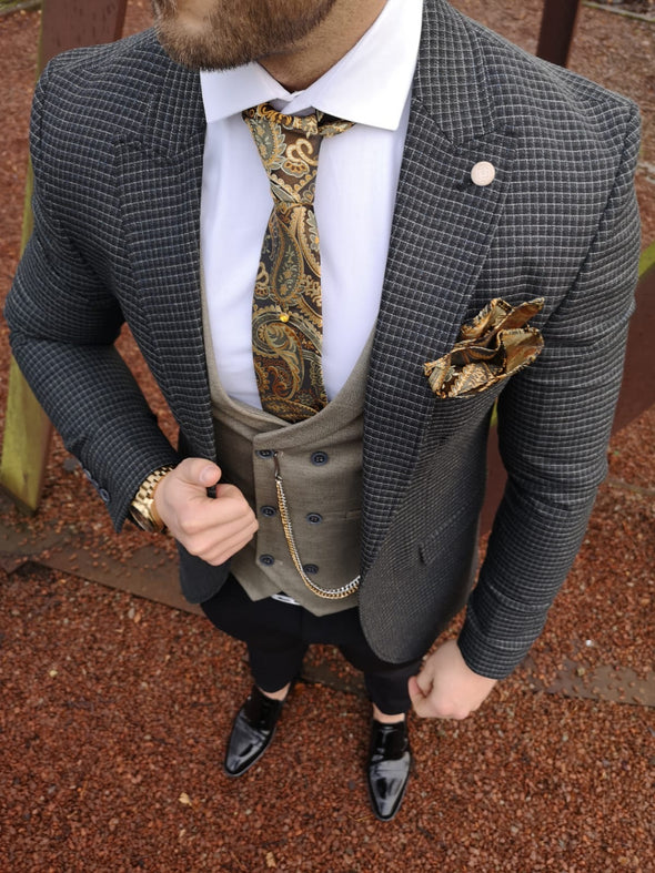 Hardy - Green/Navy 3 Piece Suit