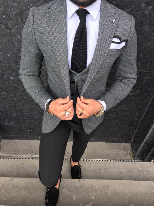 Axel - Dark Grey 3 Piece Suit