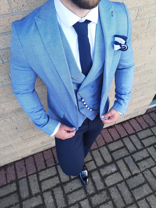 Venice - Blue 3 Piece Suit