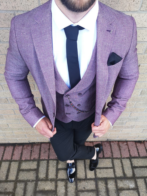 Sherwood - Red 3 Piece Suit