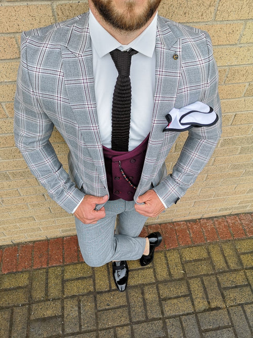 Dexter - Grey 3 Piece Suit