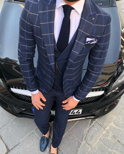 Lisbon - Navy 3 Piece Suit
