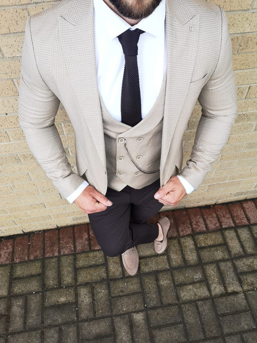 Judas - Beige 3 Piece Suit