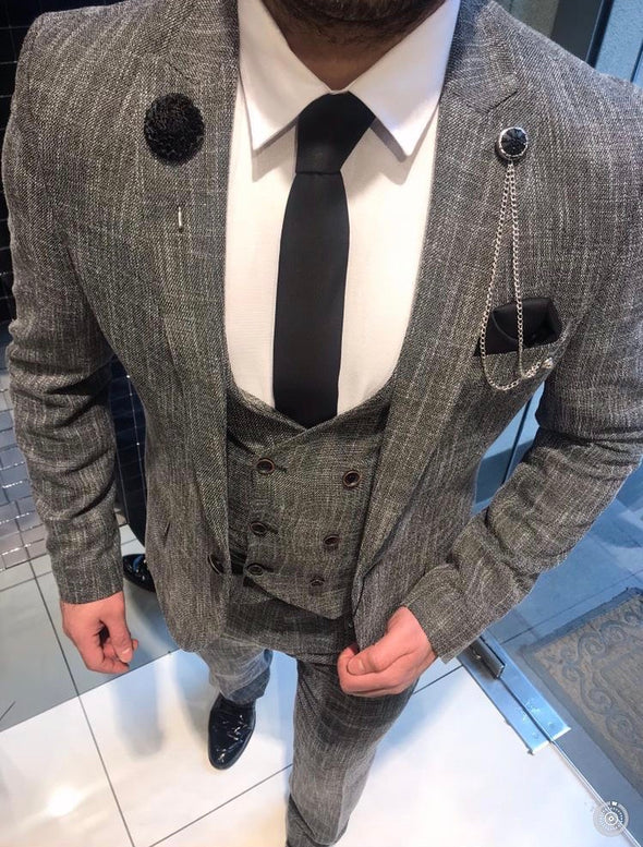 Titus - Grey 3 Piece Suit