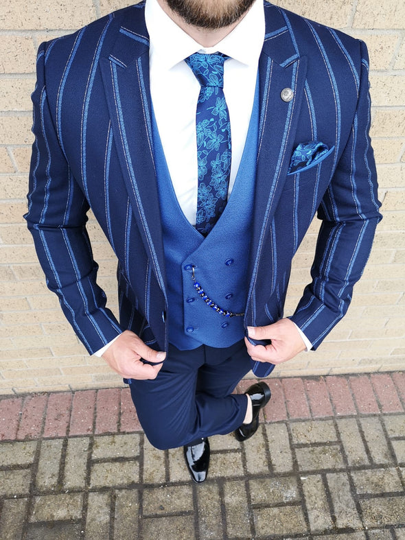Devon - Navy 3 Piece Suit